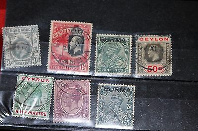 George V Commonwealth Selection(x7) Stamps