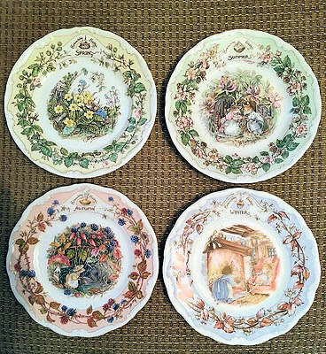 Royal Doulton Brambly Hedge -  4 Side Plates - First Quality