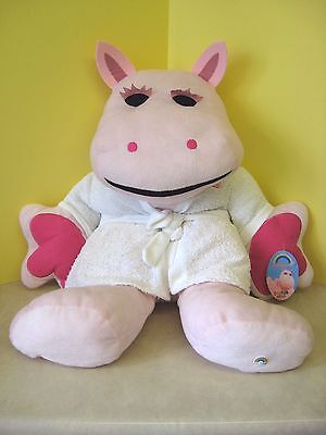 """New - George From Rainbow Giant 25""""  Soft Toy With Towelling Robe / Large Plush"""