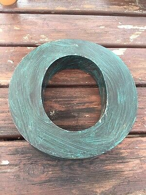 Vintage Reclaimed Industrial Metal Letter O Sign