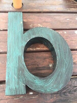 Vintage Reclaimed Industrial Metal Letter b Sign