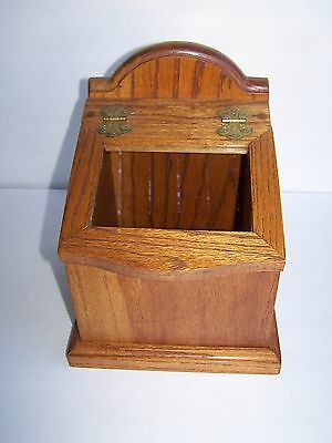 Vintage Solid Oak Wood Counter Top Store Display Case Cigar Candy Box