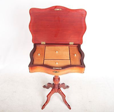 Pedestal Work Table Tripod Table Mahogany Card Table Antique Vintage