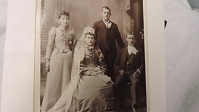 cabinet photo antique Ill. wedding dress bridesmaid gorgeous gowns men gloves