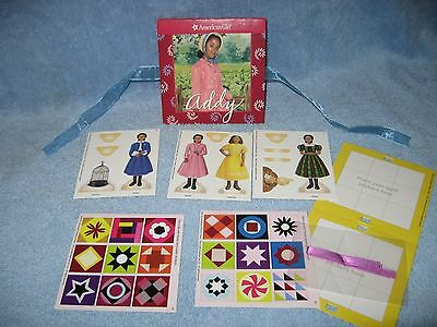 American Girl Addy Pull Out Book with Paper Dolls and Stickers