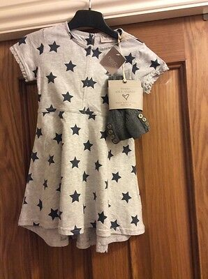 Girls Dress And Tights Set New With Tags From Next 2-3 Years.    Star