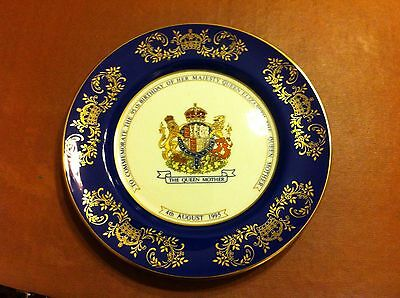 Aynsley Plate Celebrating The Queen Mother' S 95 Th Birthday