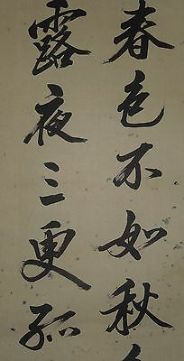 Japanese Painting Scroll Picture Asian art 白井 惟徳 sumi work Old Japan Antique b41