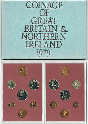 BRITISH COINS: 1979 Great Britain & Northern Ireland Proof Coin Collection Set