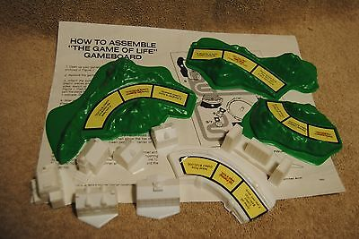 Old Game of Life Parts Mountains Buildings Instructions Milton Bradley 4000 1985
