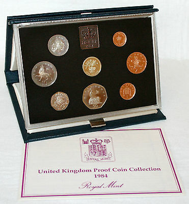BRITISH COINS: 1984 United Kingdom Proof Coin Collection Set with Standard Case