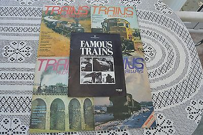 TRAINS & RAILWAYS- 4 early issues and Famous Trains supplement