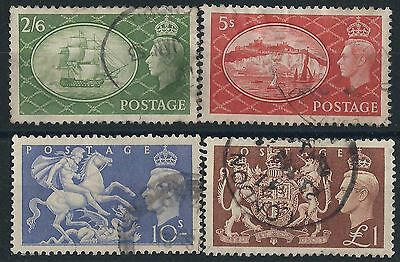 L233) Great Britain. 1951, Used. SG 509 to 512. Set of 4 High Values. c£27+