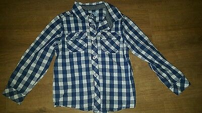 boys blue checked shirt 3 - 4 years