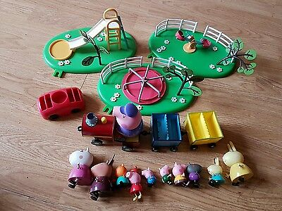 Peppa Pig  playground and train and figures