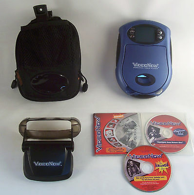 Hasbro video now player with video player case and 3 PVD discs
