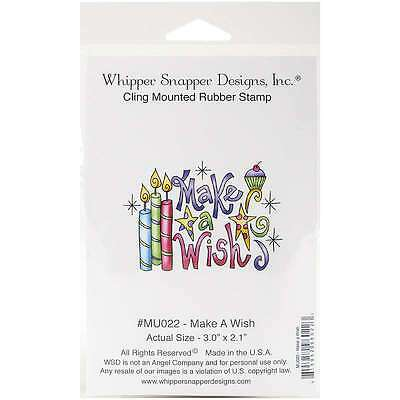 Whipper Snapper Cling Stamp 3 Inch X 2 Inch-Make A Wish 815952960223