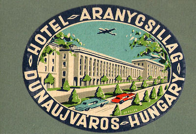 RARE old Hotel label luggage label Hungary * #292