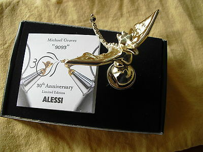 Alessi TEA REX Flöte  Wasserkessel 9093 by M. Graves - Sonderedition gold - NEU!
