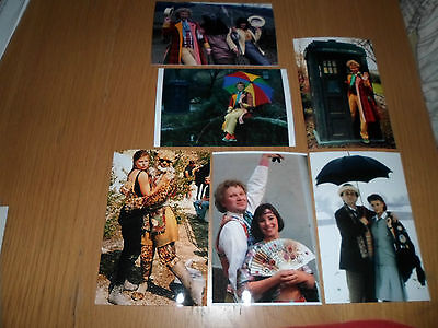 Colin Baker Sophie Aldred Nicole Byrant 6x4 Photograph Set. Tv Actor Doctor Who