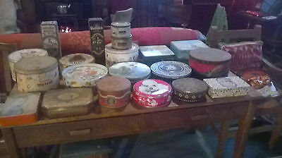 Job lot vintage tins... much and various! Over 100.