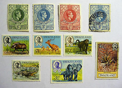 British Colonies Swaziland Stamps King George VI lot N666