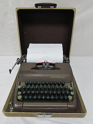 Vintage Smith Corona Sterling Portable Typewriter with Case