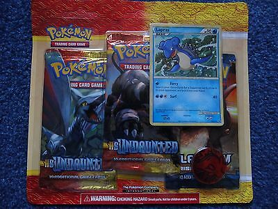Pokemon HS Undaunted 3 Booster Pack Set with Holo Promo Card