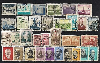 Turkey - Lot of old stamps (ref 1193)