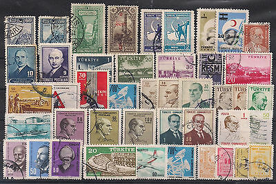 Turkey - Lot of old stamps (ref 1190)