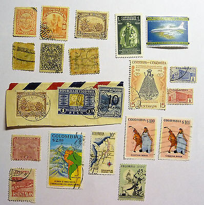 Colombia Early Old Collection of  Stamps lot674