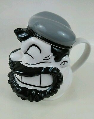"""Collectable """"Brutus"""" Popeye Ceramic Creamer w/ Lid 2001 King Features Syndicate"""
