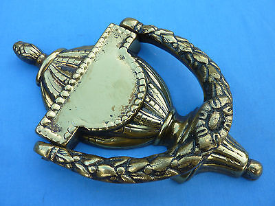Antique/vintage Reclaimed Large Heavy Brass Fancy Door Knocker With Name Plate