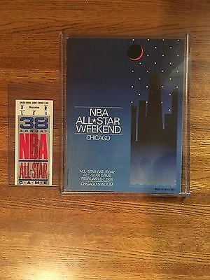 1988 NBA All Star Ticket and Program