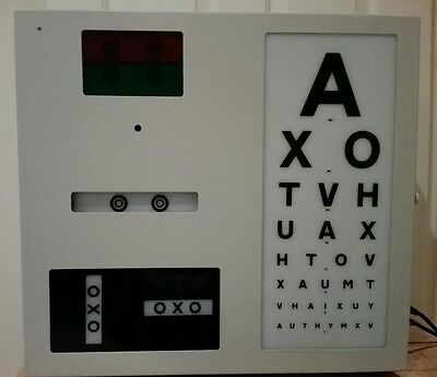 Ophthalmic test chart, 6m Snellen, wall mounted.