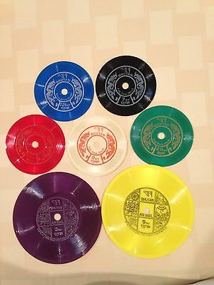 1973 Bhutan Phonograph Record Complete 7 Stamps Set