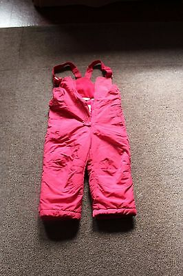 PInk Girls Age 2-3 Chiboogi Snowsuit Trousers/ Dungarees/Salopettes