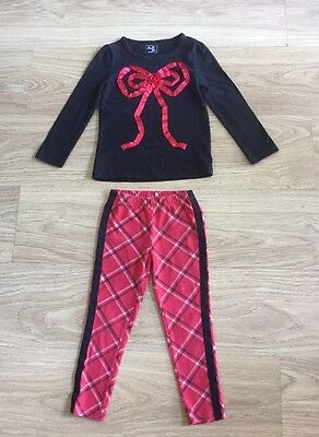 Gorgeous Gap Trouser & Top Outfit, Red Tartan, Great For Christmas, Age 4 Years
