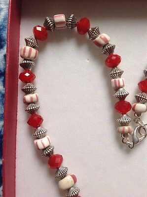 Rare antique Venetian trade beads necklace with Chinese glass and metal beads