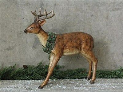 Christmas REINDEER STATUE-Primitive/French Country Farmhouse Cabin Deer Decor
