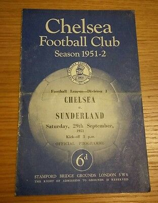 Chelsea v West Bromwich Albion 13/10/51