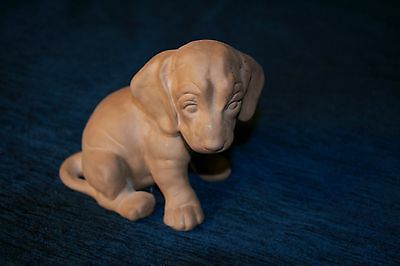 Studio Pottery Chocolate Labrador Puppy Continental Marked On The Base