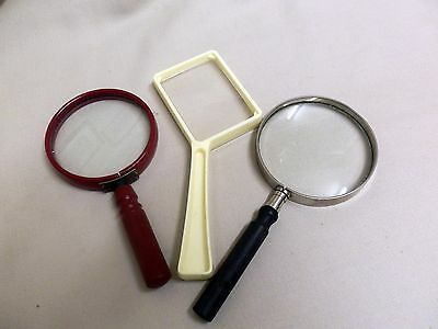 Three Vintage Magnifying Glasses