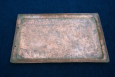 Antique Large Newlyn Copper Tray Stamped Jp John Pearson