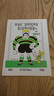 'The Saints History' by the 'Scouts' 1980 Northampton Rugby Union Brochure