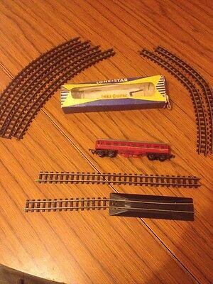Lone Star Treble O Electric Carriage And Track  X 8 Used Condition Corners