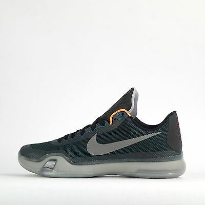 Nike Kobe X Mens Basketball Trainers Shoes Teal/Reflect Silver