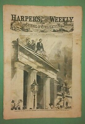 Harper's Weekly 3/2/1861  famous President Elect Cover    Fort Taylor, Key West
