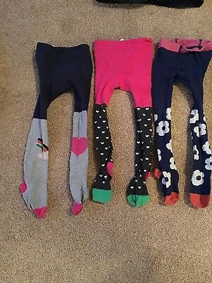 3 pairs of baby boden tights age 2-3