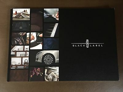2017 Lincoln BLACK LABEL 36-page Original Sales Brochure